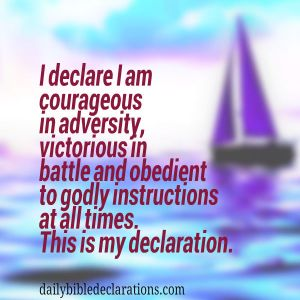 I am courageous