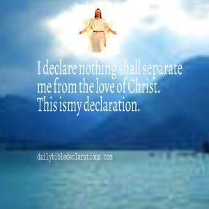 nothing shall separate me from the love of Christ