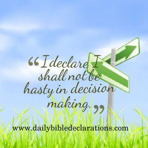 declare decision