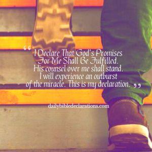 God's promises shall be fulfilled