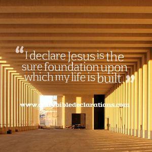 Jesus firm foundation