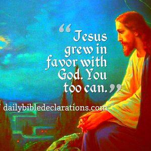Jesus grew