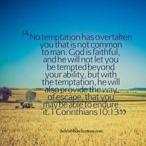 No Temptation - 1 Corinthians 10 13