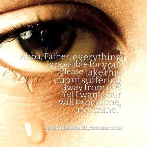Prayer when suffering