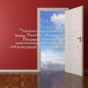 peace of God at home