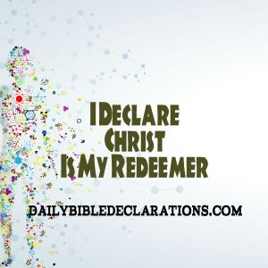 Christ is my redeemer