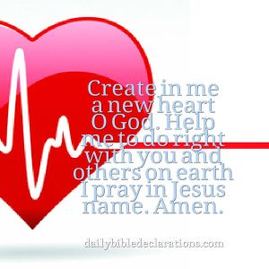 create in me a new heart