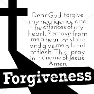Forgive my negligence