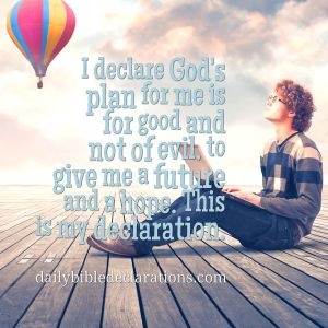 God's plan for me not of evil