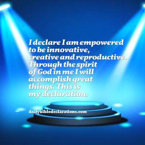 I am empowered