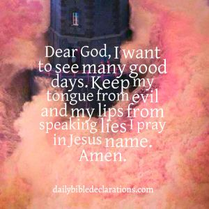 Keep my tongue from evil