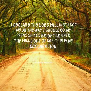 Make my path straight