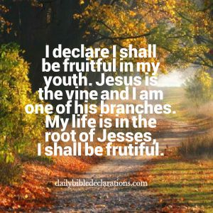 My life is in the root of Jesse, I shall be fruitful