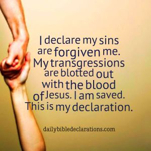 My sins are forgiven