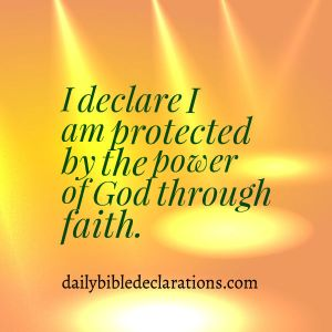protected by the power of God