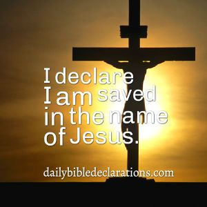 saved in the name of Jesus