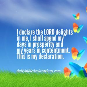 The Lord delights in me