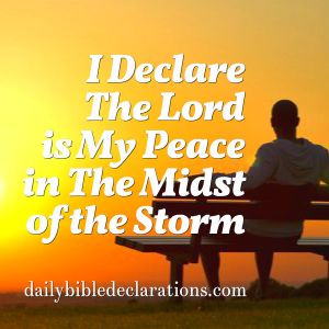 The Lord is my peace