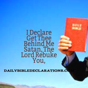 The Lord rebuke you satan