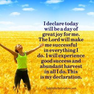 The Lord will make me successful