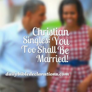 Christian singles shall be married