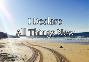 Behold I will do a new thing now, it shall spring forth, shall ye not know it. I will make a way in the wilderness and rivers in desert.