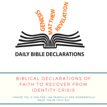 Biblical declarations to recover from identity crisis