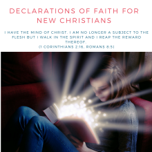 DECLARATIONS OF FAITH FOR NEW CHRISTIANS
