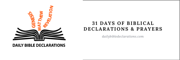 31 Days of biblical declarations and prayers for the New Year (1)