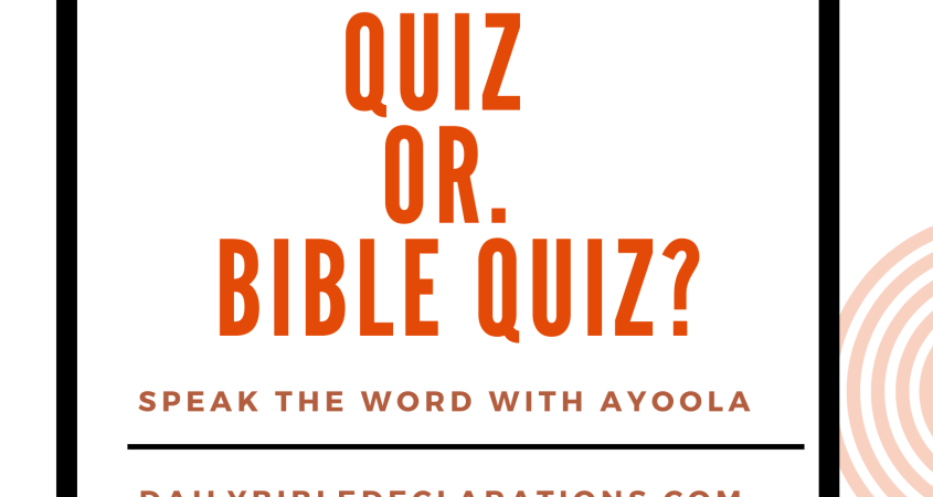 OMG game quiz or Bible quiz?
