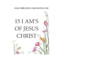 I AM'S of Jesus Christ