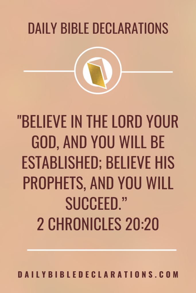 Believe in God - 2 Chronicles 20:20