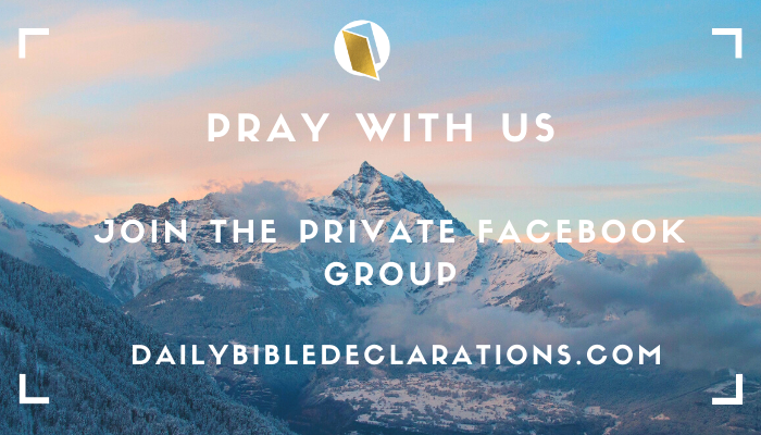 Pray with us, Join the Private Facebook Group