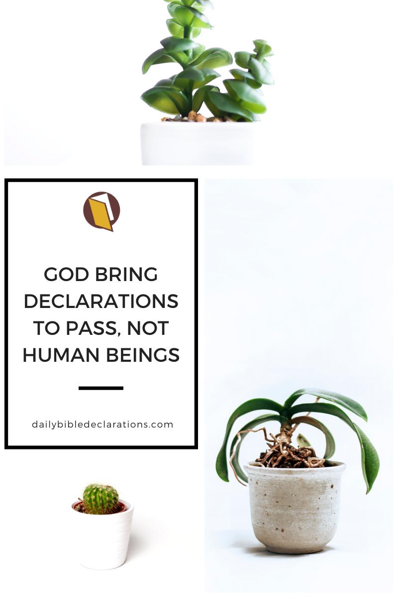 God and declarations