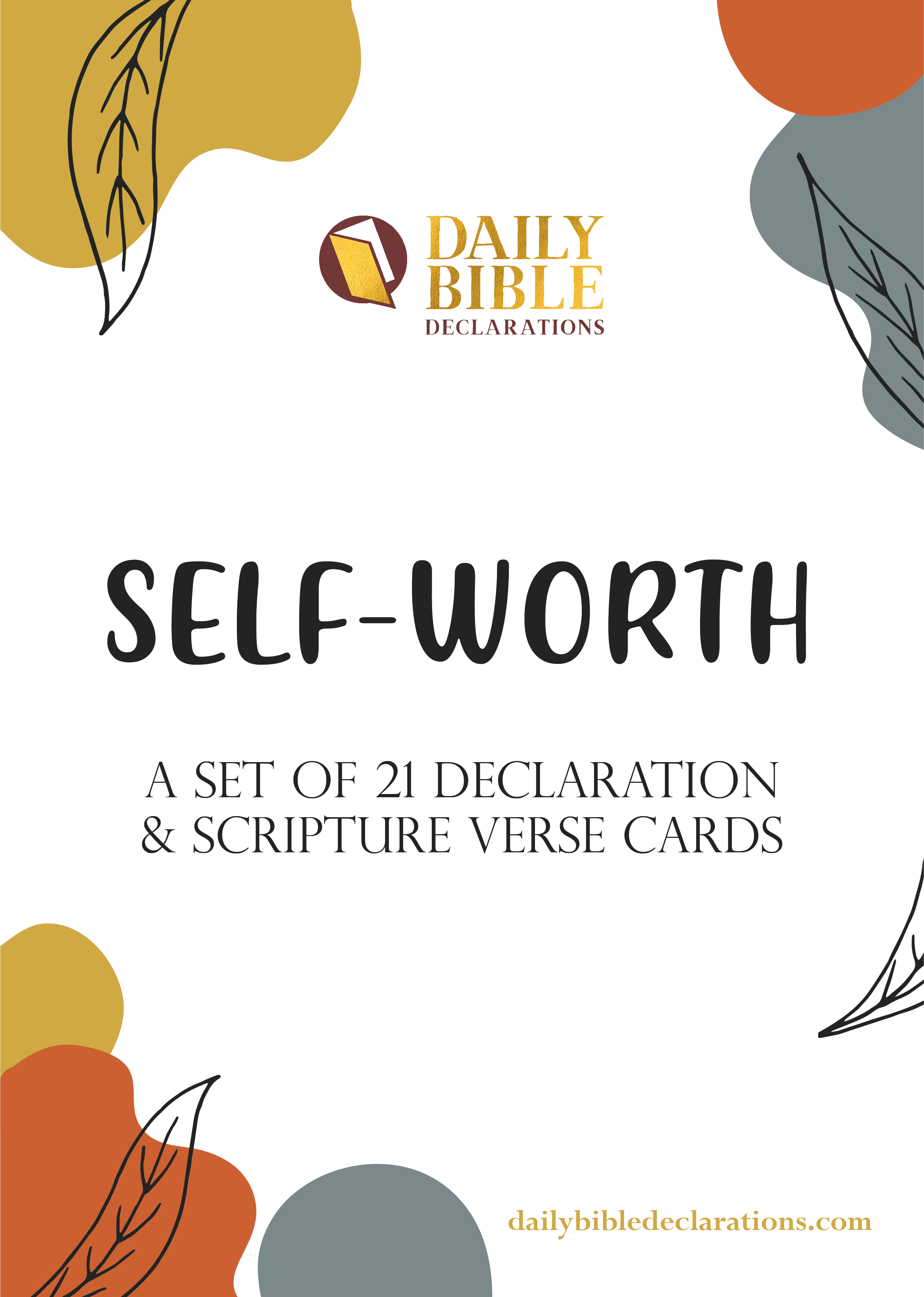 Self-Worth Declaration Encouraging Uplifting Bible Verse Card