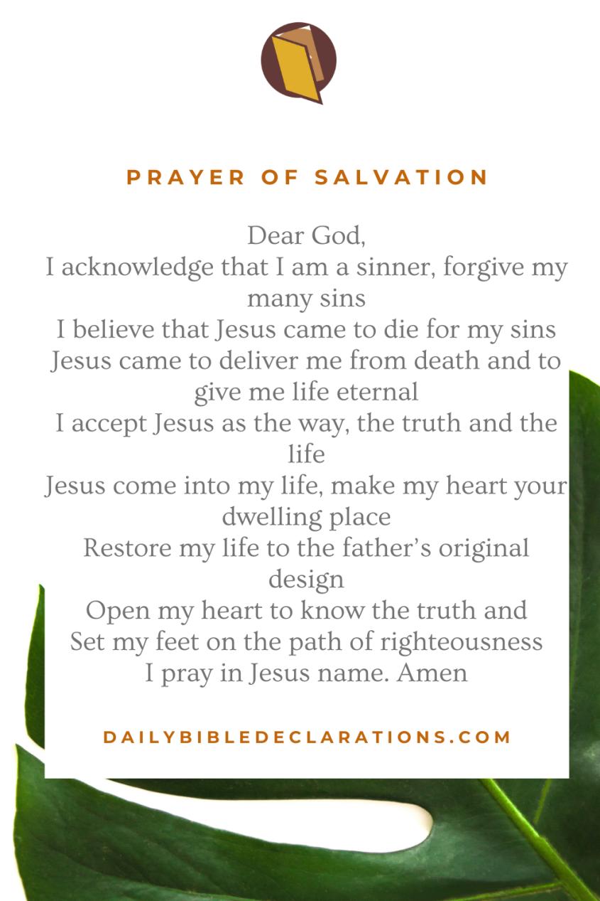 Prayer of Salvation
